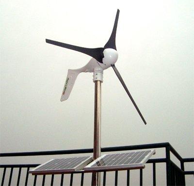 CE,Russia,RoHS approved Grid tie1000W solar wind hybrid system,2x400W wind turbine+200W solar+controller+grid tie inverter !(China (Mainland))