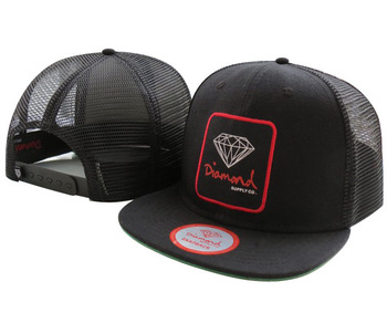 Diamond supply CO baseball caps most popular Snapback Hats DI03 black mesh freeshipping