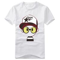 Wholesale Free Shipping 2013 Male Summer 100%Cotton Short-Sleeve Bape T-Shirts
