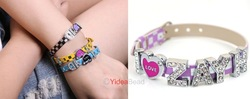 Hot Design 6pcs I LOVE ZAYN Letter Rhienstone Purple Leather wristband bracelet 191004(China (Mainland))