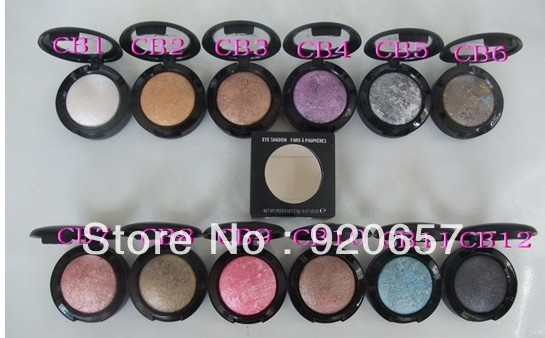 Free shipping 2013 NEW pigment eyeshadow 12 colors surf baby baked eye shadow (12pcs/lot)(China (Mainland))