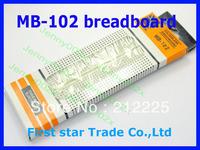 Wholesale 10pcs/lot Breadboard 830 Point Solderless PCB Bread Board MB-102 MB102 Test Develop DIY