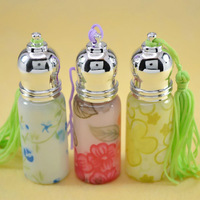 Oct sale ! Free shipping 60pcs/lot 6ml roll on print perfume bottles glass empty small perfume refillable bottle wholesale