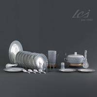 Porcelain tableware bone china set ceramics modern fashion plaid