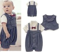 Boy Baby Formal Wedding Suit Set 3-21M 2 piece Outfit + Vest Cute