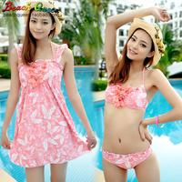 Free shipping Hot springs bikini swimwear piece bikini set steel push up bikini 016