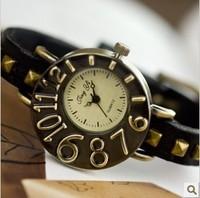 Vintage accessories cowhide bracelet watch fashion genuine leather watch is genuine leather