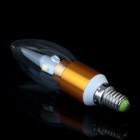 E14 3W 6 LEDs White/Warm white LED Bulb Lamp Candle Light Energy Saving AC85-265V 100pcs