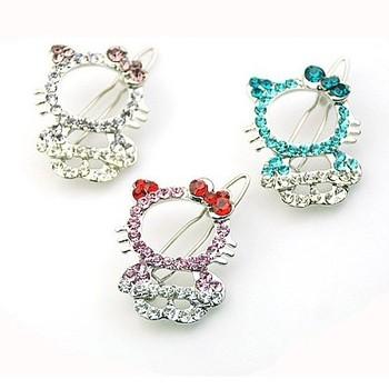 Free Shipping Wholesale Elegant Cute Hello Kitty Hair Barrettes Fashion Jewelry