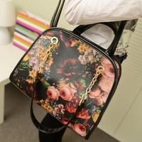 Free shipping-Fashion vintage 2014 women's handbag motorcycle bag print chain portable single shoulder cross-body  bag