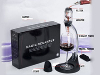 New Listed, Full Gift Set Magic Decanter,Red Wine Aerator Set With Bag Hopper And Filter,1Pcs Free Shipping