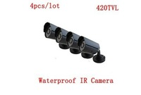 Wholesale 4pcs/lot 420TVL Color CMOS Indoor/Outdoor Waterproof IR CCTV Camera Security DVR Camera Kit