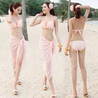 Hot spring swimwear bathing suit for the girl push up bikini swimwear swimwear big mantillas triangle swimwear set 2266