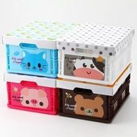 Min Order $15(mixed order)  animal diy storage box storage box finishing box drawer plastic storage  2009