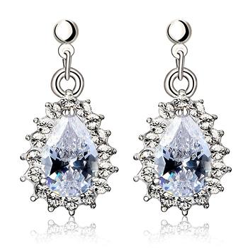 Chea zircon drop earrings women's inlaying aaa bride zirconium crystal earrings