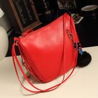 2014 fashion double shoulder strap bucket bag charm women's handbag fashion bag shoulder bag