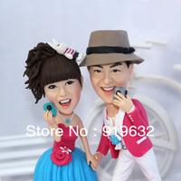 Ceramic figurine wedding gift polymer clay dolls polymer doll lovers
