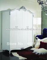 carved silver leaf wardrobes NC120208
