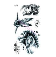 Free shipping ,10pcs/ lot Temporary tattoo stickers Temporary body art Supermodel stencil designs Waterproof tattoo #NS050#