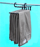 Free shipping stainless steel magic pants rack,multifunctional trousers rack,closet hanger 5 way in one