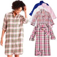 Thin 100% women's cotton shirt long sleepwear nightgown big shirt sleepwear dress