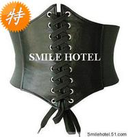Shoelace rivet cummerbund women's belt wide cummerbund wide belt