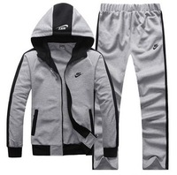 New men's outdoor track suit men's cotton hooded sweater casual sportswear suit