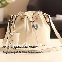 free shipping  stylish bucket  shape soft pu leather brand ladies' shoulder bag sling bag