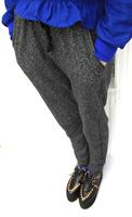 2013 spring and autumn of mushroom women's elastic waist loose drawstring casual long trousers harem pants