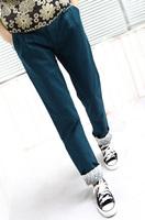 2013 mushroom girls fashion female lace decoration casual pants pencil pants skinny pants