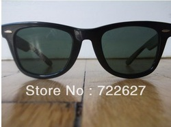 Free shipping in the latest fashion Sunglasses black green RB21140 Sunglasses wholesale(China (Mainland))