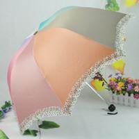 Free shipping Dot rainbow umbrella three popular umbrella apollo umbrella