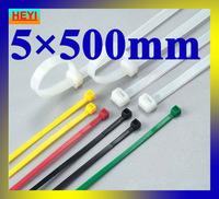 5mm*500mm velcro strap,marker strap,white color high quality 250pcs/lot nylon cable tie