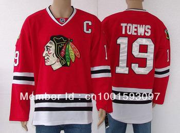 Cheap Hockey jerseys Men's Jerseys Chicago Blackhawks #19 Jonathan Toews Red/Black/White/Green Hockey jerseys Free shipping Chea