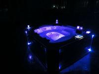 Outdoor massage hot tub