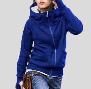 Free shipping Plus size clothing 2012 spring and autumn casual outerwear with a hood plus size Large sweatshirt