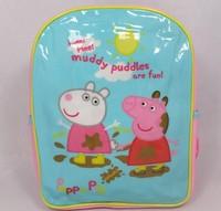free shipping children  girl peppa pig backpack bag