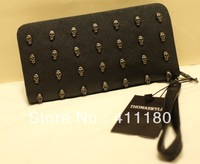 Top selling fashion lady Evening bag super quality Skull logn bag wallet free shipping style 9519