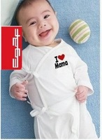 Promotional  I LOVE Mama and love papa  infant baby romper wholesell price  Santa/baby romper