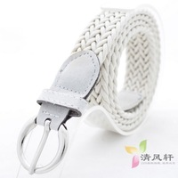 8 2013 twiner knitted women's pin buckle decoration strap tieclasps candy color thin belt accessories