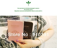 Free shipping Concise passport bag as lovers passport cover holder as travel accessory product.