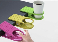 30 pcs Table Folder colorful water cup holder Desk Cup Holder Drink Clip Table Cup Lap stationery  H132