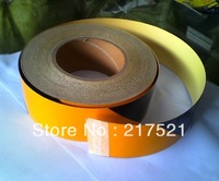 Yellow reflective tape reflective stickers reflective tape cordobas black reflective of 5cm 50m