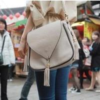 Free shipping Hot sale Bags 2013 female spring tassel pendant one shoulder women's handbag fashion women's cross-body bag