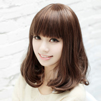 Free shipping Woman wig pear head scroll scroll fluffy wig woman with short hair