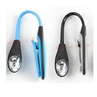 J34 Free Shipping Mini Flexible Clip-on Bright Booklight LED Travel Book Reading Lamp White Light