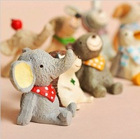 zakka resin craft mini animals looking at sky desk office  home decoration gift UKULELE Photography props  12pcs/set
