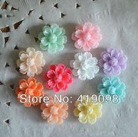 Free shipping! Diy mobile phone decoration/flat back resin/resin flower carnation, middle / 15 * 15 mm