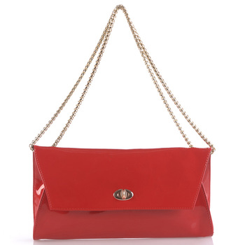 2011 envelope patent leather chain flip genuine leather women's handbag shoulder bag