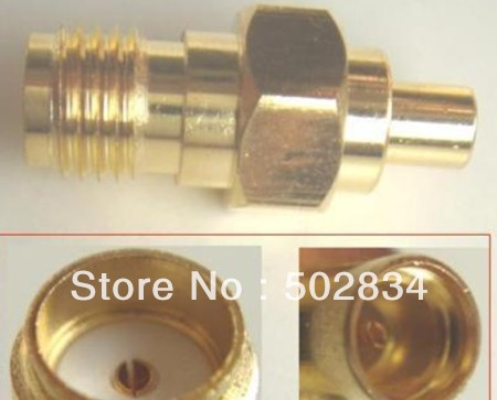 10pcs/lot MMCX female jack TO SMA female jack straight adapter connector adapter(China (Mainland))
